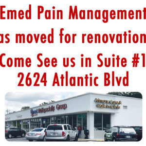Emed Pain Management Has Moved!